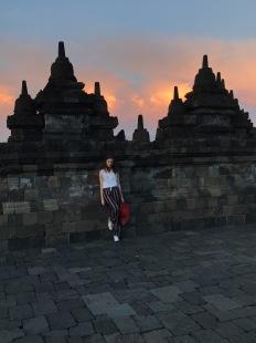 Sofie at Borobudur temple