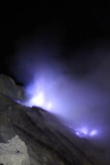 The blue flames of Kawah Ijen
