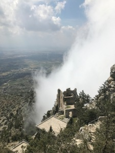 Buffavento Castle in the clouds