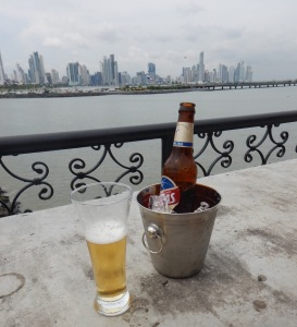 Beer on the terrace of Capital Bistro Panama City