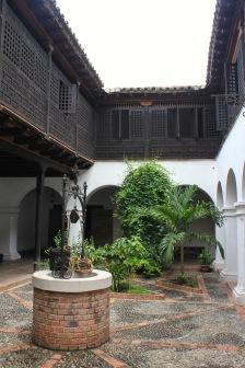 Casa Diego Velazquez courtyard in Santiago de Cuba