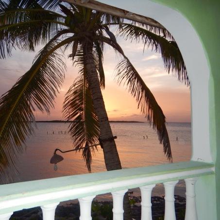 Sunset from the balcony, Playa los Cocos Cuba