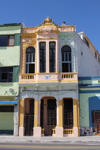 Colorful casa particular on the Malecon