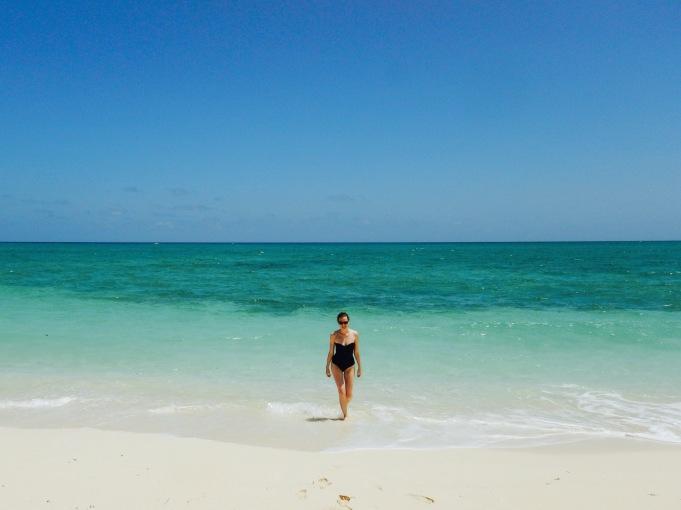 Swimming in the Atlantic Ocean near Guardalavaca Cuba