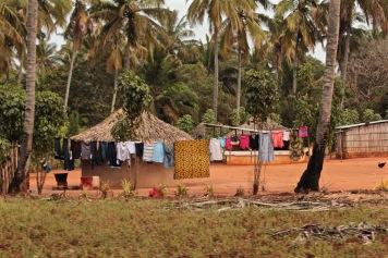 Dovela village huts Mozambique