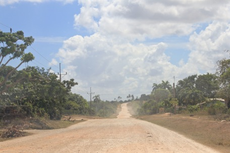 Dusty road from Gibara to Guardalavaca