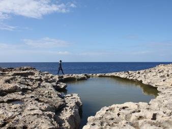 Walking at Dwerja Point Gozo