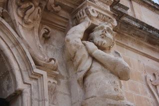 Baroque palace detail, Mdina Malta