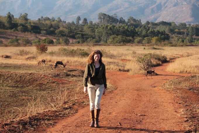 Walking with antelope in Mlilwane Wildlife Sanctuary