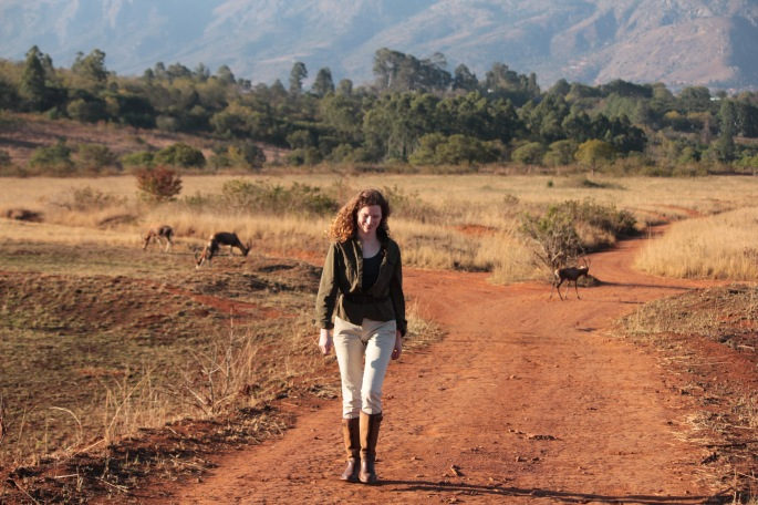 Walking with antelope in Mlilwane Wildlife Sanctuary