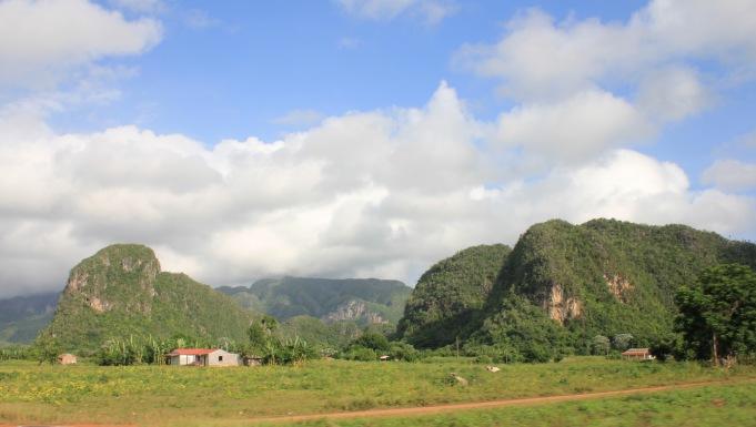 Driving through Vinales Valley Cuba