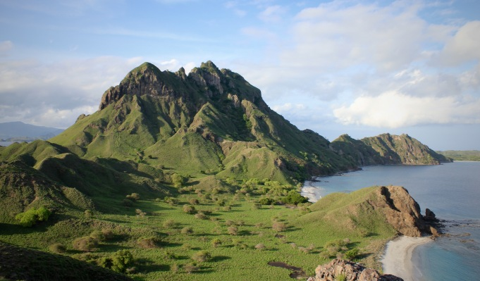 Padar island view from the top