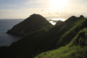 Padar island in late afternoon light
