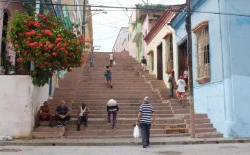 Padre Pico steps in a popular neighborhood of Santiago de Cuba