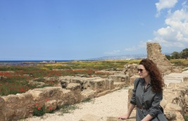 Paphos archeological park in spring