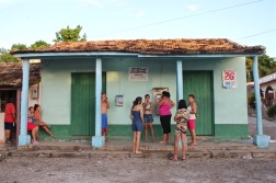 Waiting for a payphone in La Boca near Trinidad Cuba