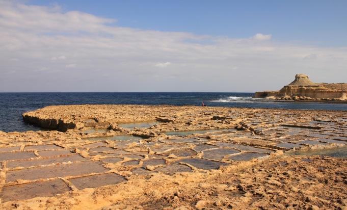 Salt pans near Marsalforn Gozo