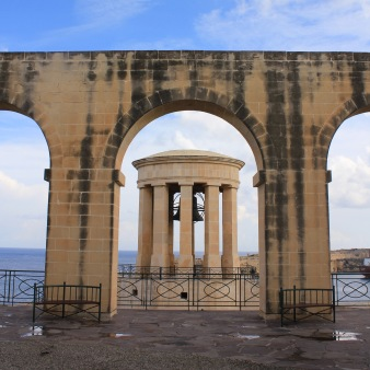 Siege Bell Memorial in the Lower Barrakka Gardens