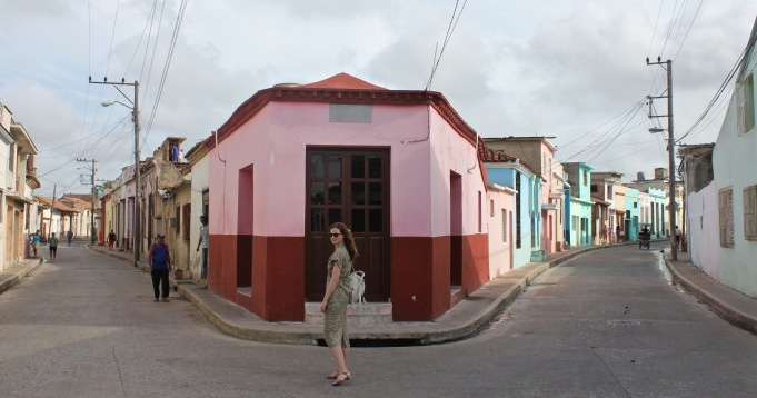 Girl on the colourful streets of Camaguey Cuba