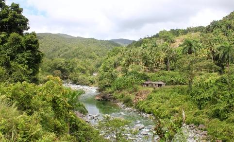 To a river view near Baracoa Cuba