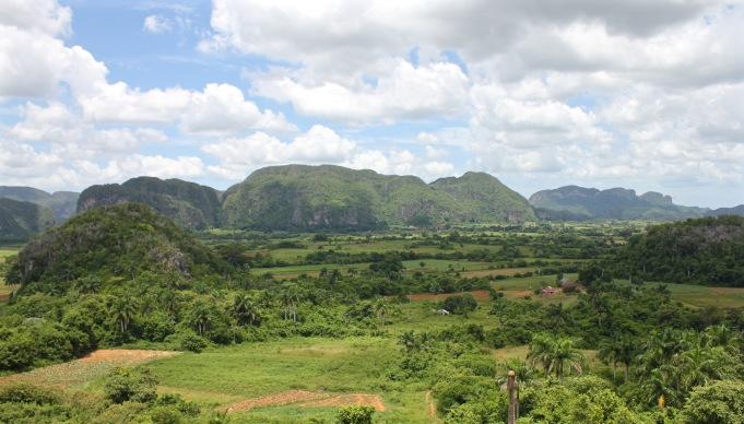View over Vinales from Balcon del Valle