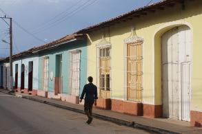 Colorful street in Trinidad Cuba