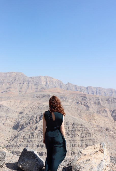 Overlooking the Hajar mountains UAE