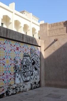 Art mural in Bastakia Quarter Dubai