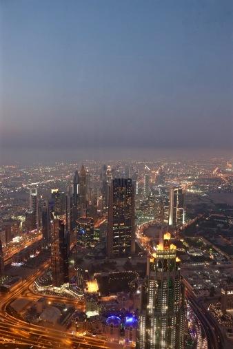 Burj Khalifa view at dusk
