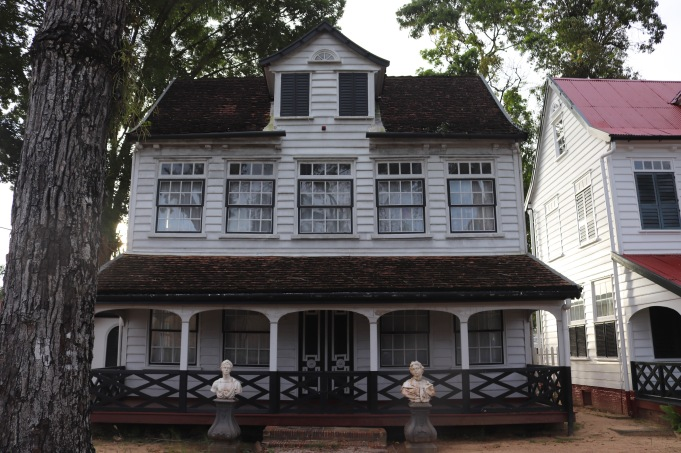 Colonial house in Paramaribo Suriname