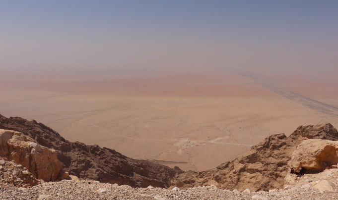View from the top of Jebel Hafeet near Al Ain