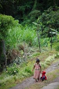 Indigenous children in Volcan, Panama