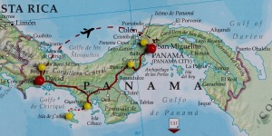 Panama road trip itinerary map