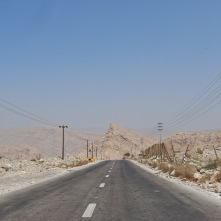 Road to the Hajar mountains, Ras Al Khaimah UAE