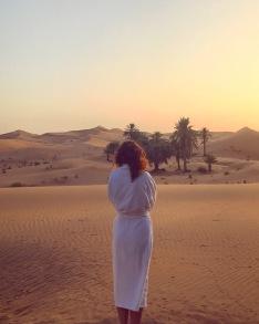 Waking up in the desert