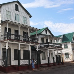 Wooden houses in Paramaribo Suriname