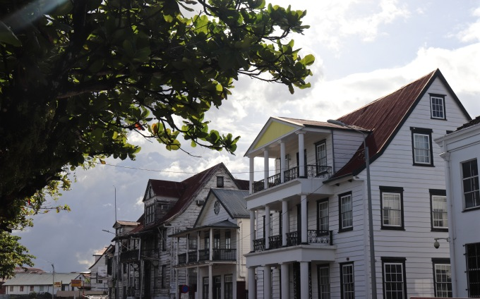 Houses along the Waterkant Paramaribo