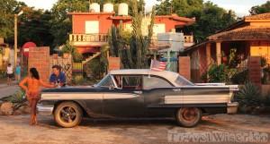 Taxi in La Boca near Trinidad Cuba