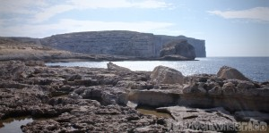 Fungus Rock at Dwerja Point, Gozo Malta