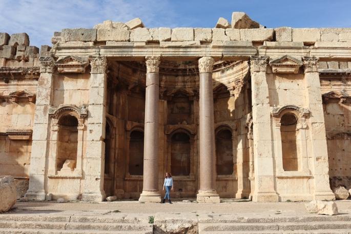 Baalbek temple ruins in Lebanon