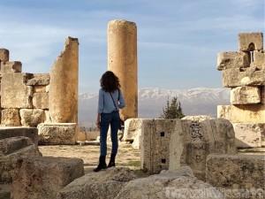 Baalbek temple ruins view