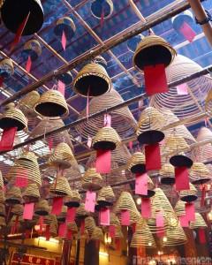 Giant incense coils, Man Mo Temple Hong Kong