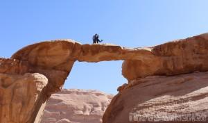 Umm Fruth rock bridge Rum, Jordan