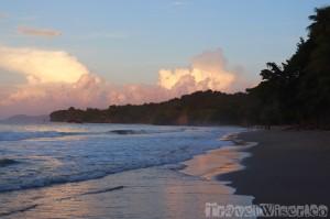 Sunset sky over Marianne beach, Trinidad and Tobago