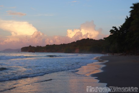 Sunset sky over Marianne beach, Trinidad and Tobago