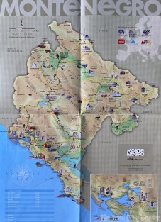 Montenegro road trip itinerary map