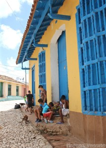 Kids playing on the streets of Trinidad, Cuba