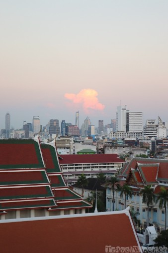 Sunset view from Golden Mount, Bangkok