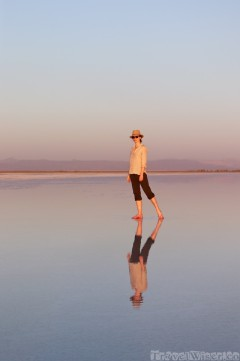 Sofie at Asale salt lake, Danakil Depression Ethiopia