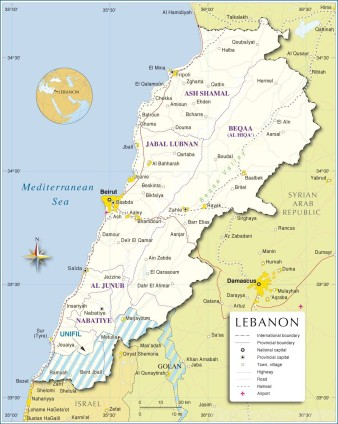 Map-Lebanon